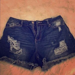 Fashion Nova Jean shorts.